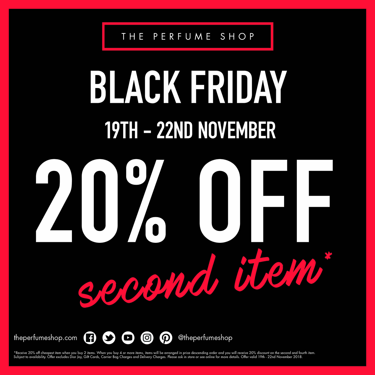bb3a5429f See in store for The Perfume Shop s Black Friday Offers – Hurry this offer  ends Thursday 22nd November!