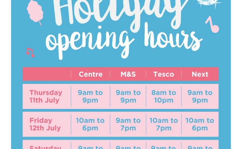 Our Holiyay Opening Hours are Here!