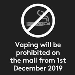 Vaping Prohibited On The Mall