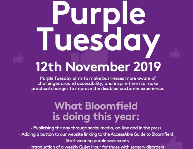 Bloomfield Shopping Centre Purple Tuesday