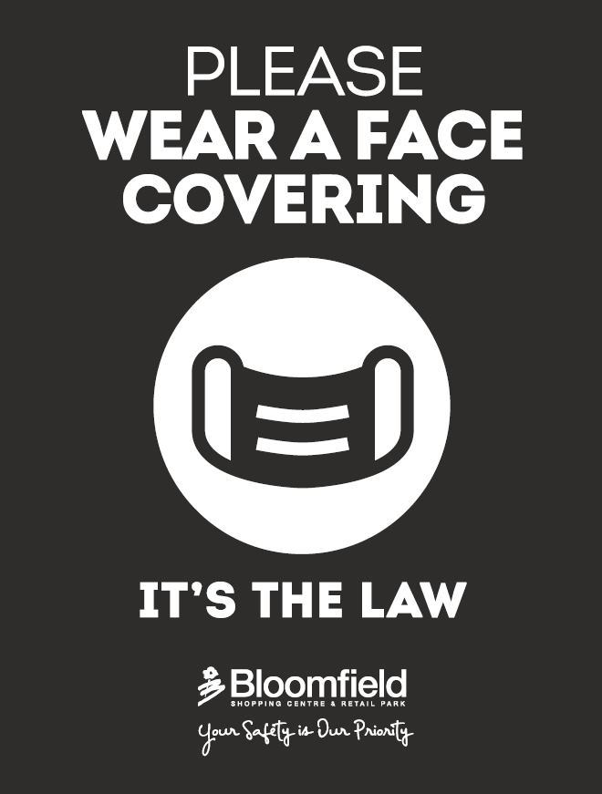 Please wear a face covering at Bloomfield Bangor